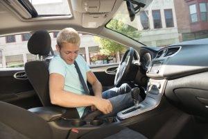 Beginnend bestuurder ervaring kilometers